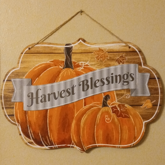 Harvest Blessings Fall Hanging Sign